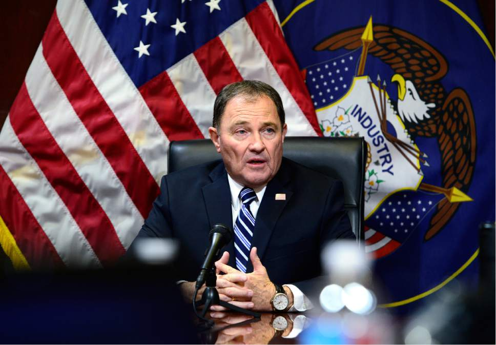 Scott Sommerdorf   |   Tribune file photo Utah Gov. Gary Herbert gave his State of the State address, focusing on the economy and high-paying jobs.