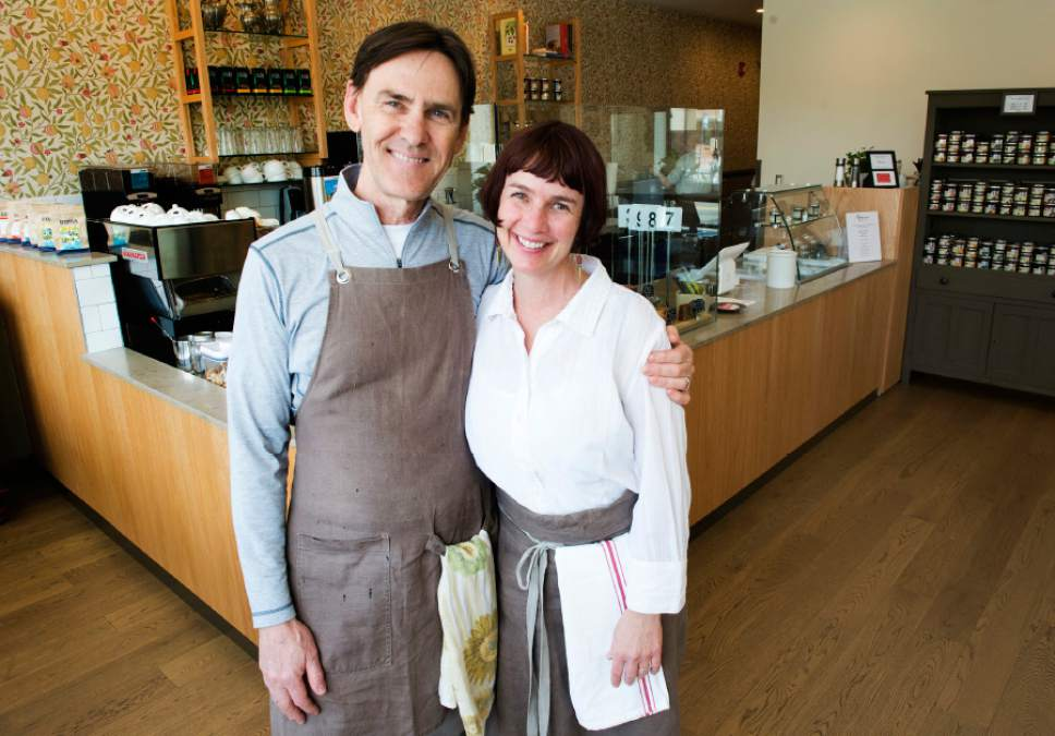 Rick Egan  |  The Salt Lake Tribune Amour Cafe owners John and Casee Francis are concerned that proposed distance provisions in  HB442, a massive alcohol reform bill, could hurt their neighborhood cafe, located  350 feet from Liberty Park. Friday, March 3, 2017.