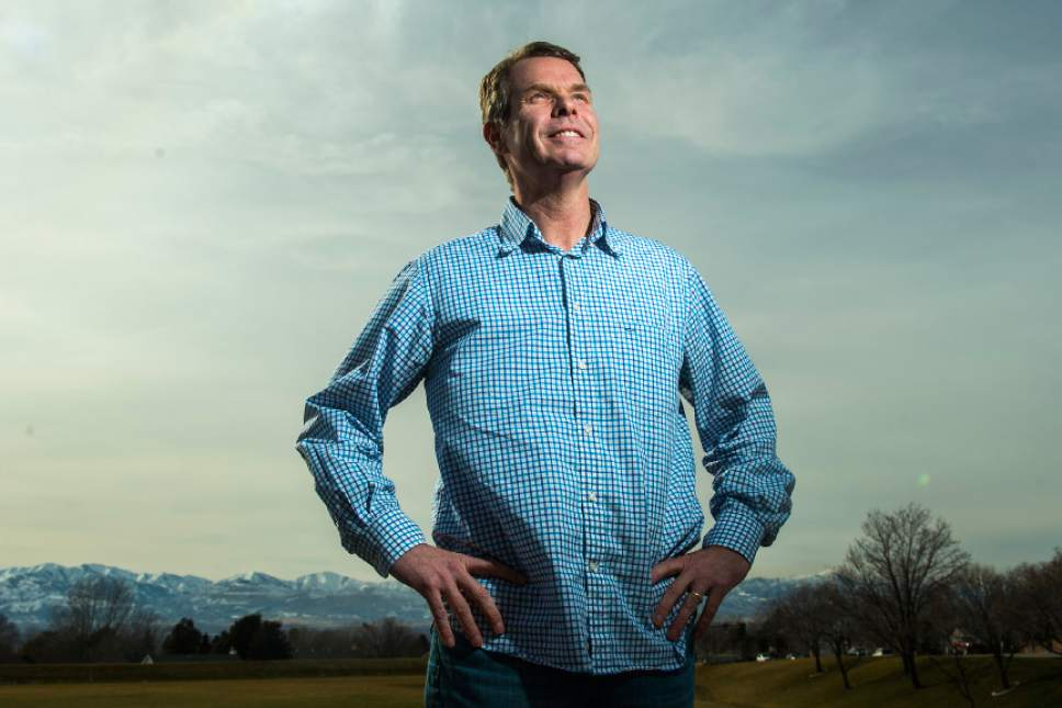 Chris Detrick  |  The Salt Lake Tribune John Swallow poses for a portrait at Storm Mountain Park in Sandy Friday March 3, 2017.