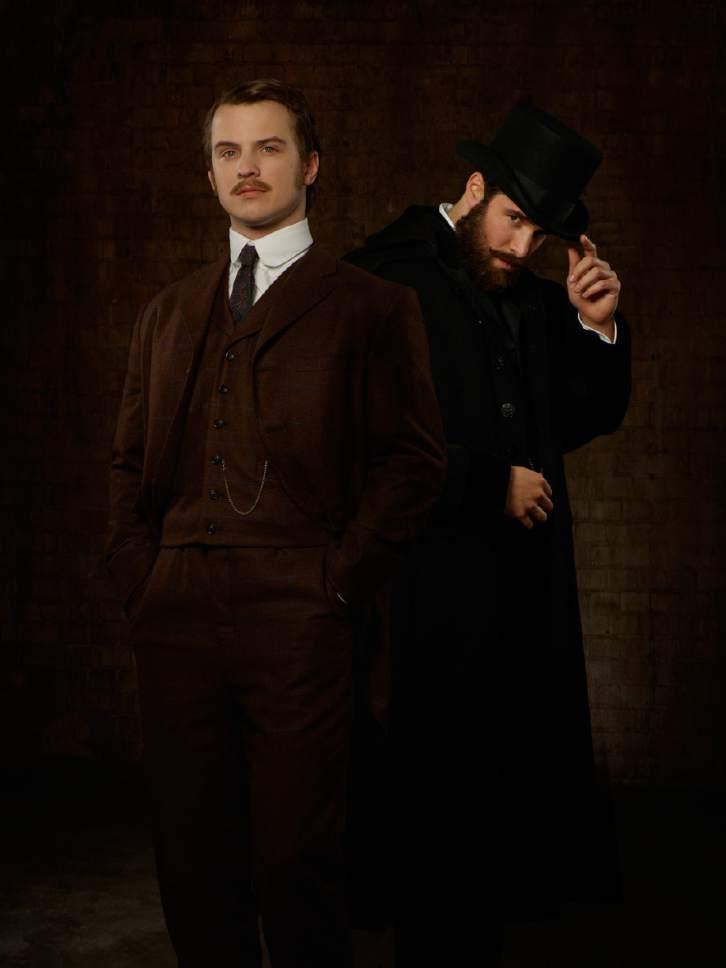 ABCís ìTime After Timeî stars Freddie Stroma and Josh Bowman.  Credit: Bob DíAmico/ABC