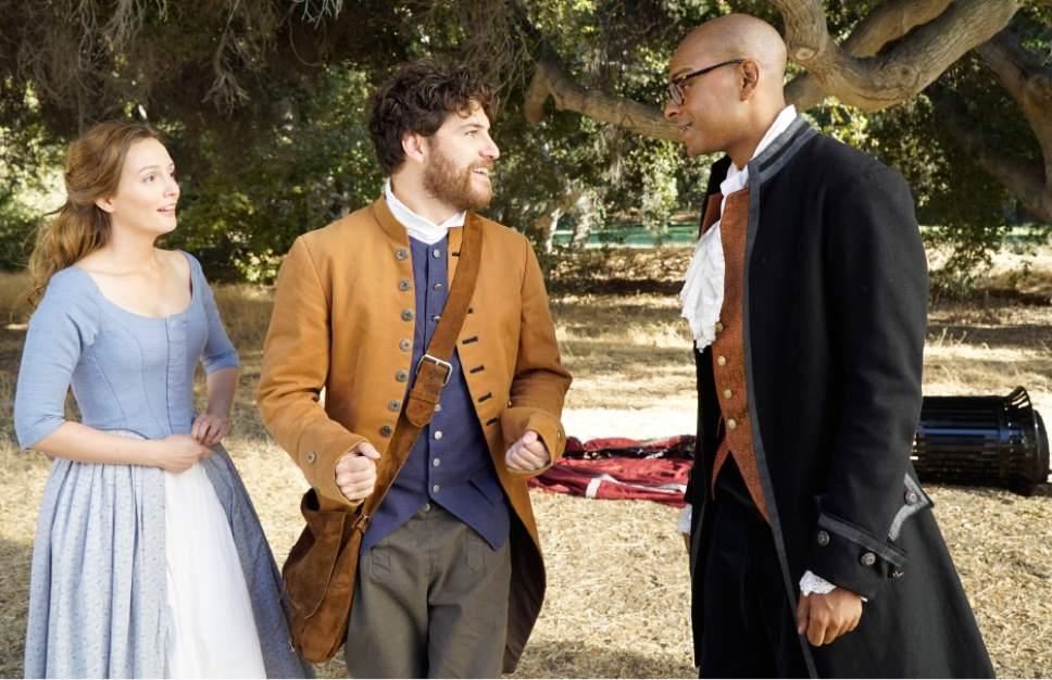 "Leighton Meester, Adam Pally and Yassir Lester star in ""Making History."" Jennifer Clasen  |  Fox"