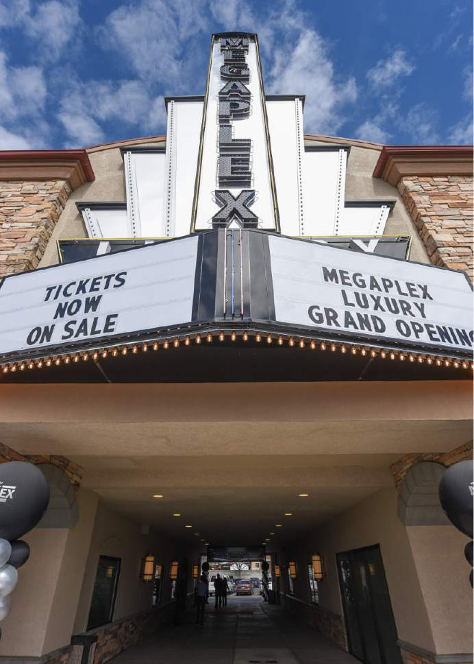 Francisco Kjolseth | The Salt Lake Tribune Megaplex Luxury Theatres at Cottonwood, 1945 E. Murray Holladay Road, opens with a fresh remodel that includes reclining heated seats.