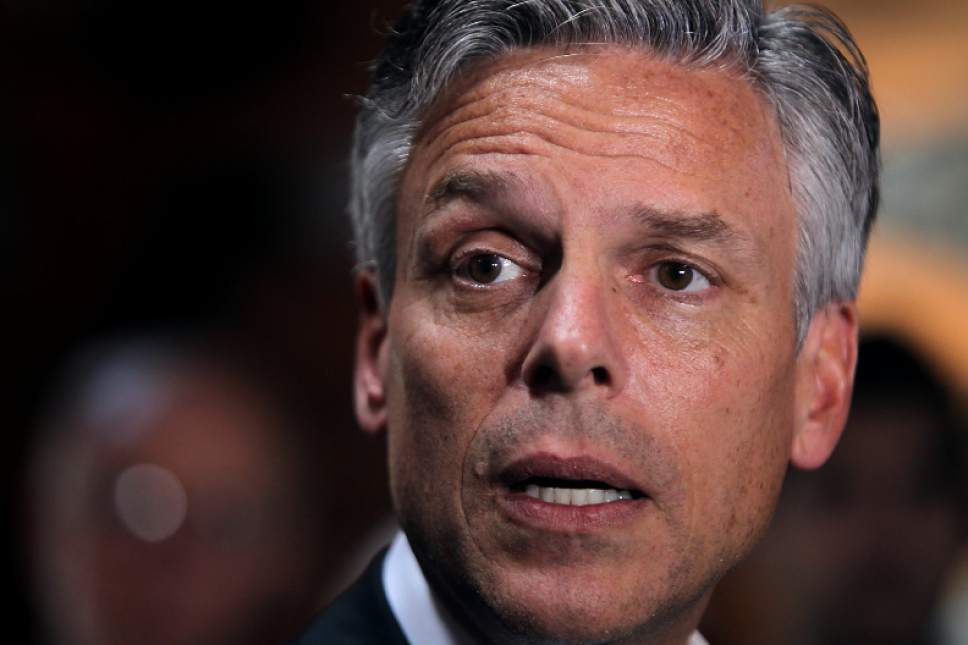 Associated Press file photo  Former Utah Gov. Jon Huntsman, now a co-chairman of No Labels.