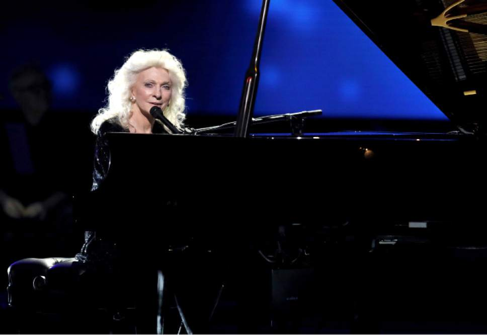 Judy Collins performs at the 59th annual Grammy Awards on Sunday, Feb. 12, 2017, in Los Angeles. (Photo by Matt Sayles/Invision/AP)