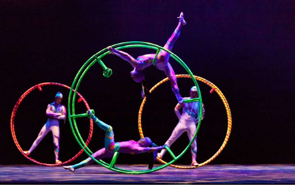 Courtesy photo  The Golden Dragon Acrobats touring company, established in 1967 to showcase the best of a time-honored Chinese tradition that began more than 25 centuries ago, performs two shows Saturday, March 11, at the Eccles Theater in Salt Lake City.