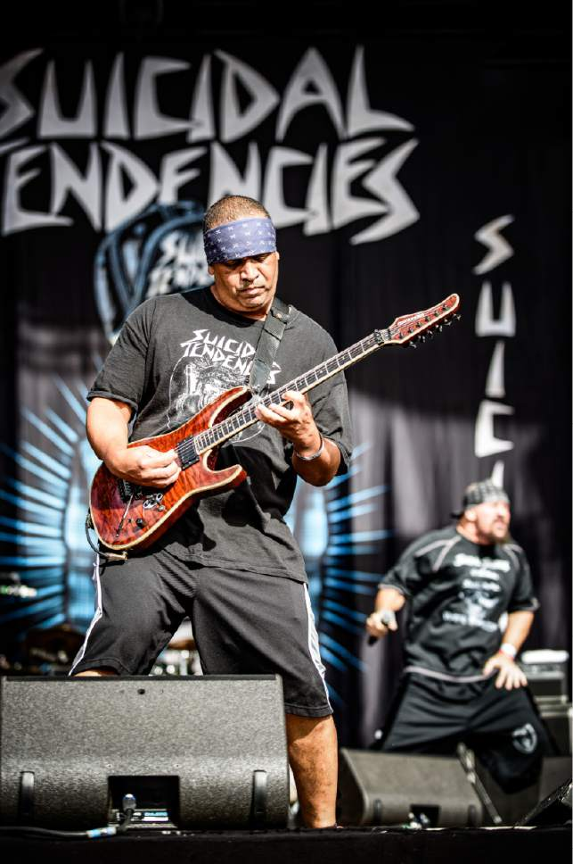 """Courtesy photo  Venice, Calif.-based crossover thrash band Suicidal Tendencies, featuring lead guitarist Dean Pleasants, wraps up its """"World Gone Mad Tour"""" on Saturday, March 11 at The Complex in Salt Lake City."""