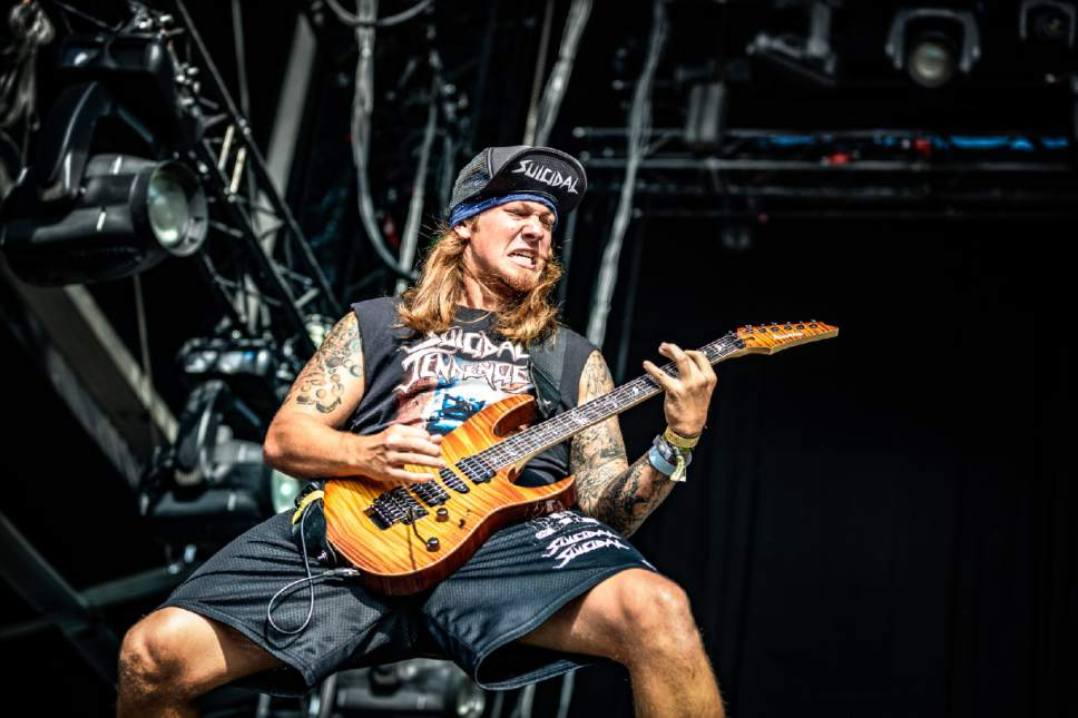 """Courtesy photo  Venice, Calif.-based crossover thrash band Suicidal Tendencies, featuring rhythm guitarist Jeff Pogan, wraps up its """"World Gone Mad Tour"""" on Saturday, March 11 at The Complex in Salt Lake City."""