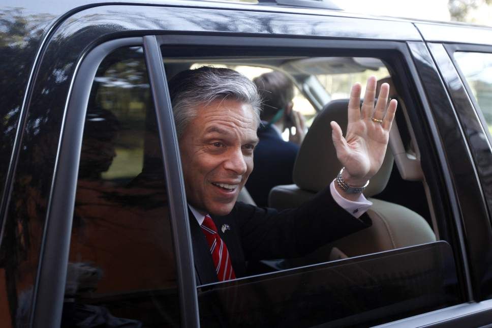 Matt Rourke |  AP file photo In this Jan. 15, 2012, file photo, Republican presidential candidate and former Utah Gov. Jon Huntsman waves as he is driven away from a campaign stop in Charleston, S.C. President Donald Trump has picked Huntsman to be U.S. ambassador to Russia -- a posting that promises to be one of the most challenging diplomatic assignments in the world.