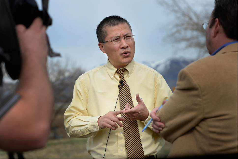 Scott Sommerdorf | The Salt Lake Tribune West Valley City councilmen Tom Huyhn, discusses the choice of the site at 2249 South Winston St. (1070 W), Friday, March 10, 2017.