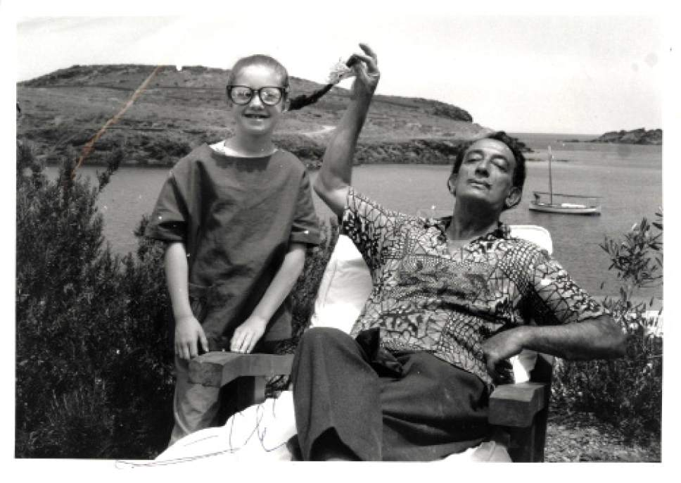 Courtesy photo  Salvador Dali and Christine Argillet in the 1970s.