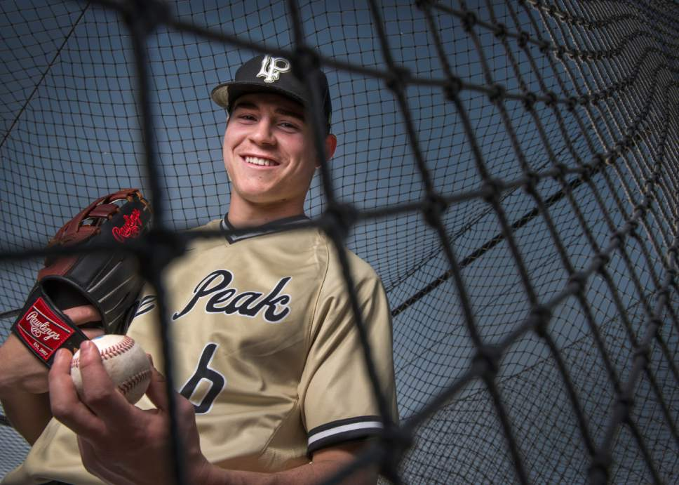 Leah Hogsten  |  The Salt Lake Tribune Lone Peak High School's Seth Corry is the No. 2 ranked left-handed pitcher in the country.