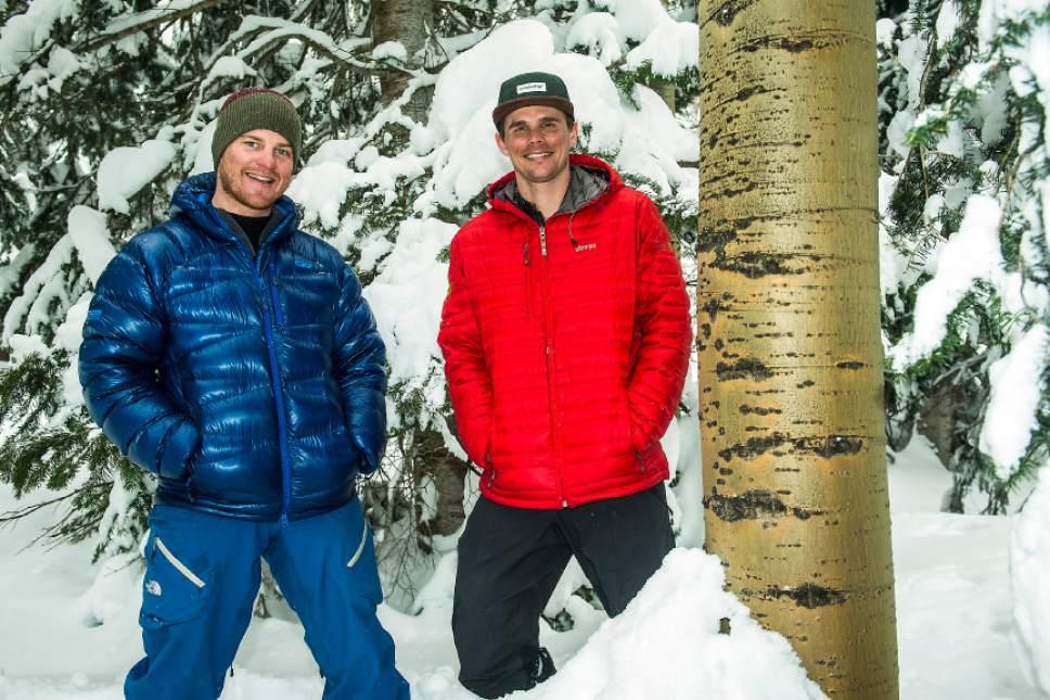 Chris Detrick  |  The Salt Lake Tribune Sam Kapacinskas and Jake Thelen pose for a portrait at Snowbird Resort Tuesday February 28, 2017.