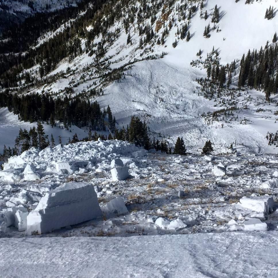 photo courtesy Mark White  Birthday Chutes avalanche