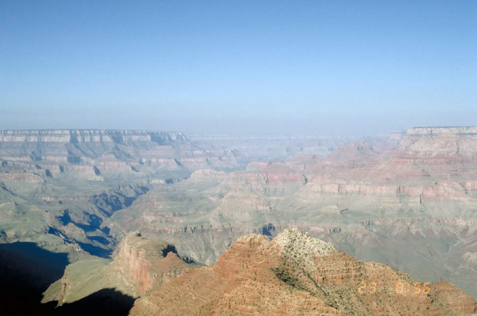 photo courtesy National Park Service  Haze fills the Grand Canyon in this photo from 1994.