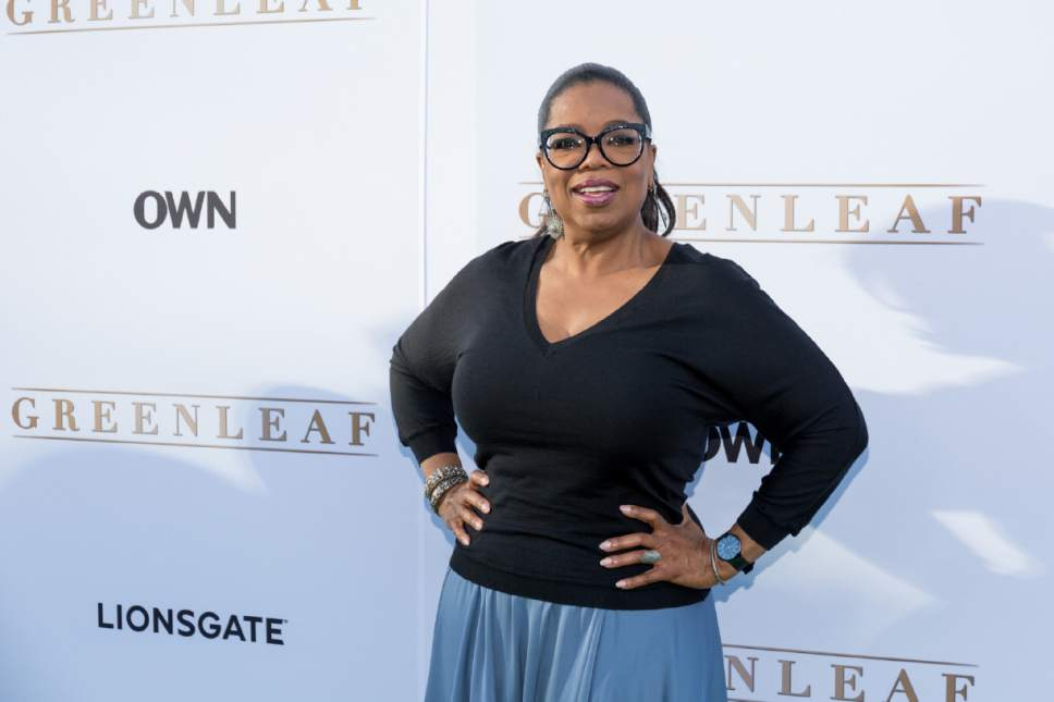 """FILE - In this Wednesday, June 15, 2016 file photo, Oprah Winfrey arrives at the season one premiere of """"Greenleaf"""" at The Lot in West Hollywood, Calif.  (Photo by Willy Sanjuan/Invision/AP, File)"""