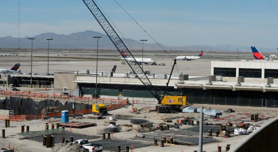 Steve Griffin  |  The Salt Lake Tribune   Construction on the new terminal at the Salt Lake City International Airport in Salt Lake City Wednesday March 15, 2017.