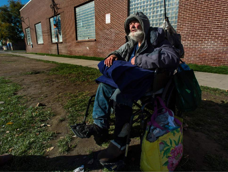 Rick Egan  |  Tribune file photo  Leo Kemel, 60, talks about the homeless situation after Operation Diversion arrested about 90 people in the Rio Grande neighborhood. Thursday, October 6, 2016.