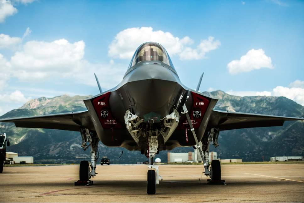Chris Detrick  |  Tribune file photo An F-35 arrives at Hill Air Force Base Wednesday September 2, 2015.