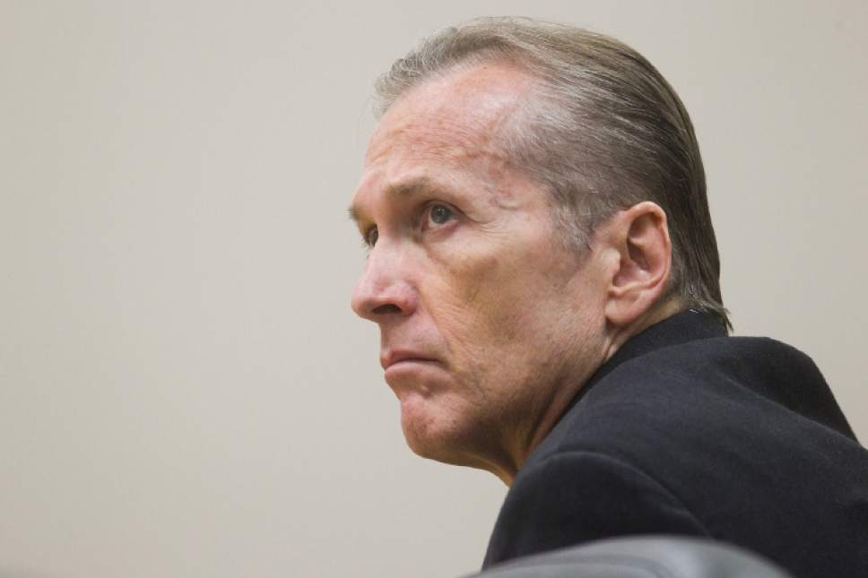 Martin MacNeill is seen during his trial at the Fourth District Court in Provo on Wednesday, Oct. 23, 2013. MacNeill, a Pleasant Grove physician, is charged with murder for allegedly killing his wife Michele MacNeill in 2007. SPENSER HEAPS/Daily Herald