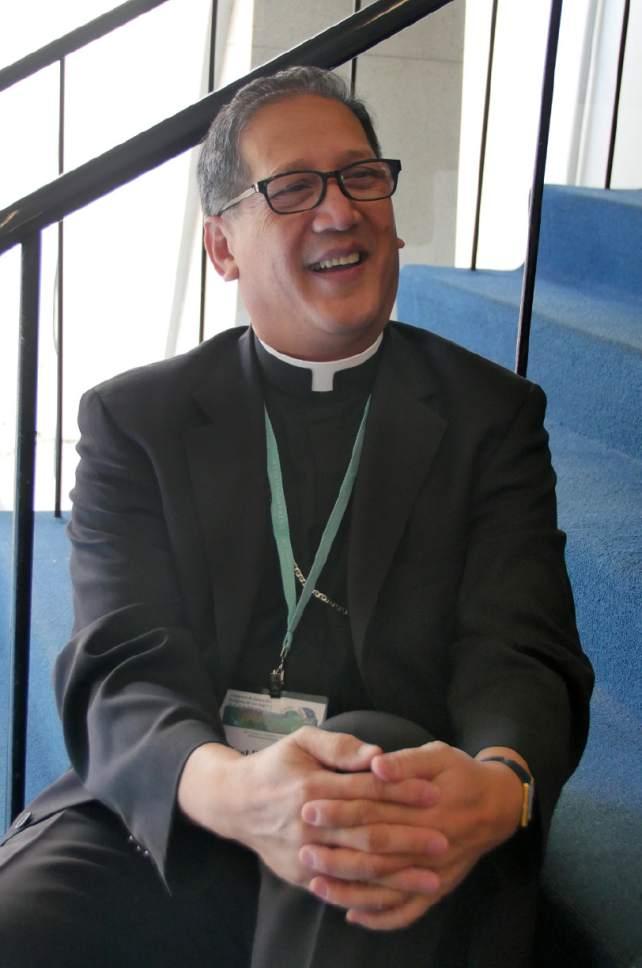 Mike Stack  |  for The Salt Lake Tribune  Bishop Oscar Solis