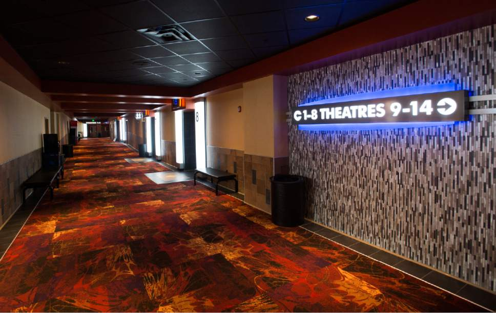 Rick Egan  |  The Salt Lake Tribune  Regal Crossroads 14, a deluxe movie theater multiplex on Redwood Road in Taylorsville, celebrated its grand opening Thursday, March 16, 2017.