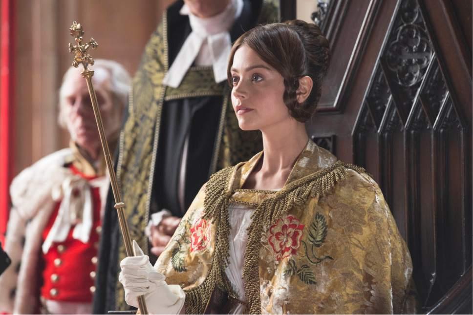 "Jenna Coleman as Queen Victoria in PBS's ""Victoria."" Courtesy of ITV Plc/Masterpiece"