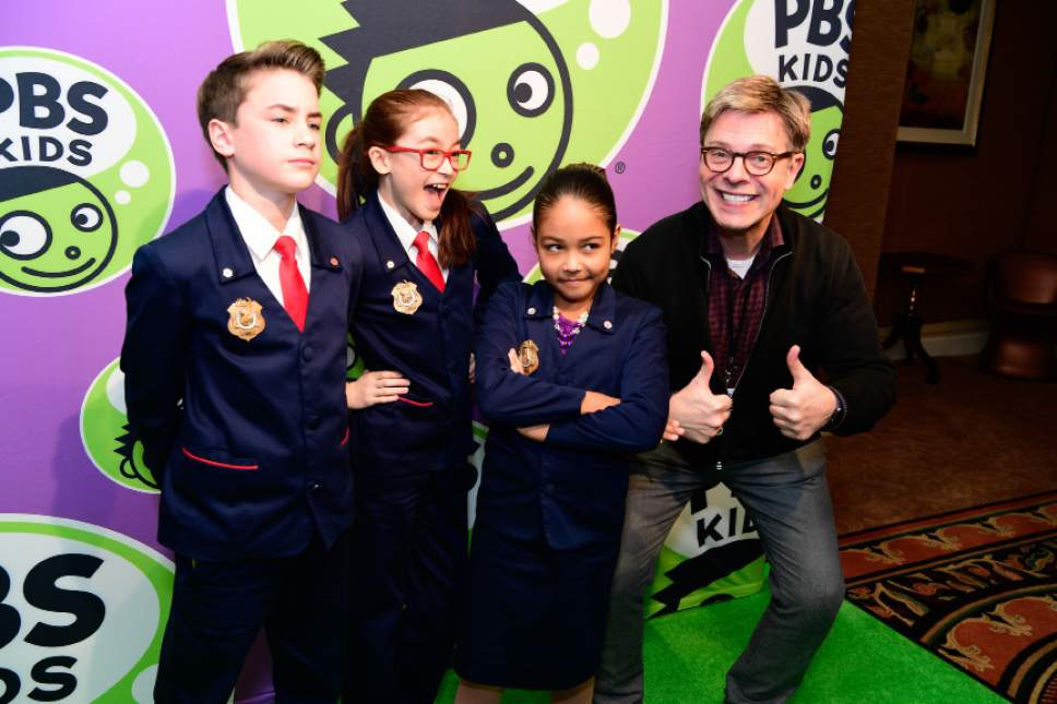 """The cast of """"Odd Squad"""" celebrates the launch of the PBS KIDS channel. Rahoul Ghose  