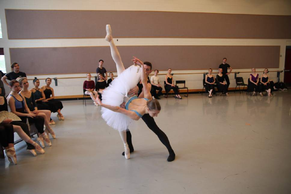 """Courtesy photo  The University of Utah's School of Dance Gala will be held March 23-25 and March 30-April 1 at the Marriott Center for Dance on campus. Pictured, rehearsal or """"Swan Lake."""""""