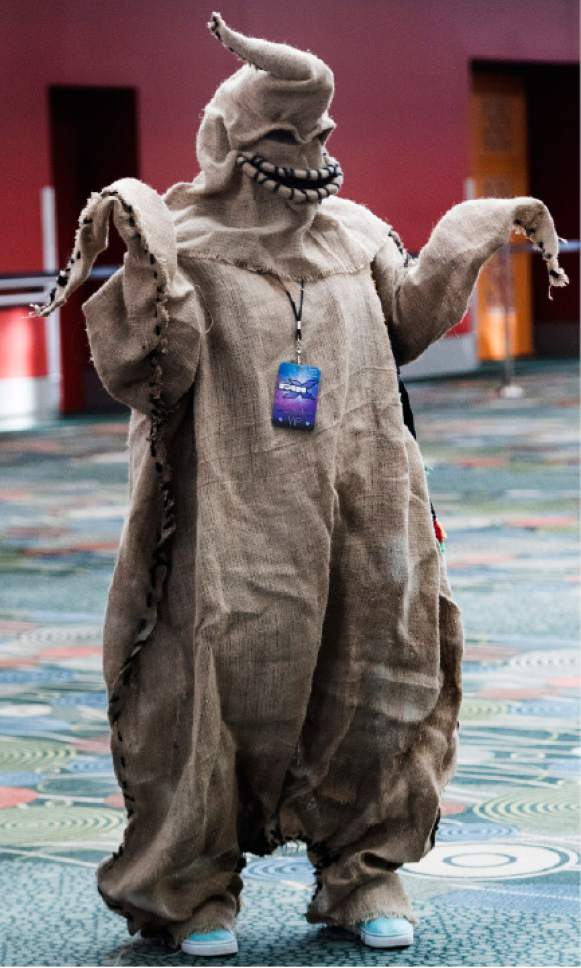 "Rick Egan  |  The Salt Lake Tribune  June MacKenzie, Layton, as ""Oogie Boogie"" at the the 4th annual FanX,  at The Salt Palace Convention Center, Friday, March 17, 2017."