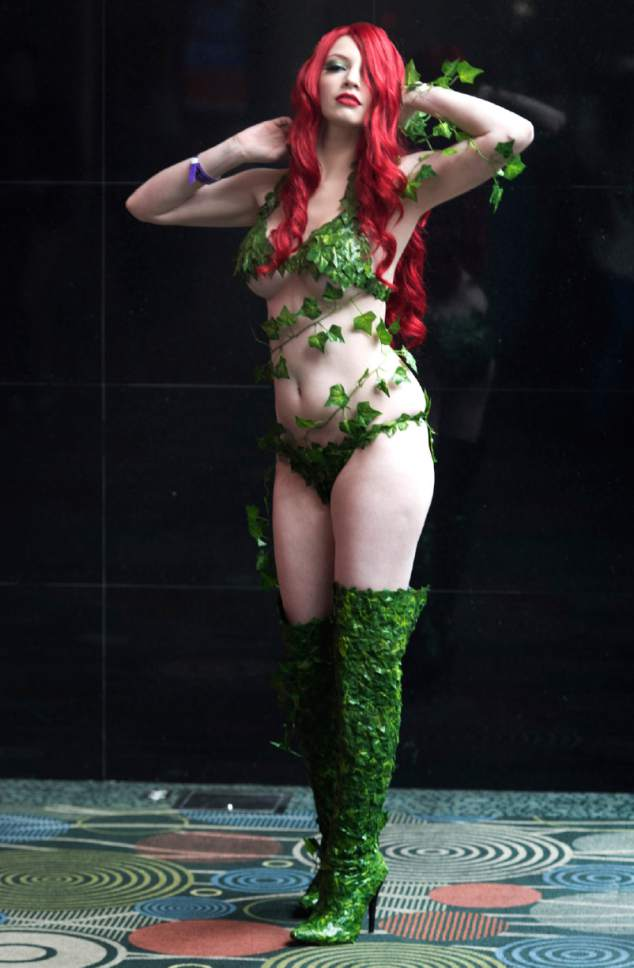"Rick Egan  |  The Salt Lake Tribune  Sami Lauder as ""Poison Ivy"" at the 4th annual FanX,  at The Salt Palace Convention Center, Friday, March 17, 2017."
