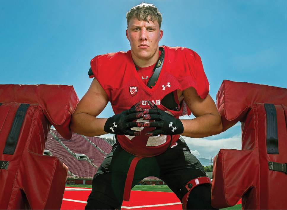 Leah Hogsten     The Salt Lake Tribune At 6-foot-5, 300-plus, University of Utah's newest lineman, Garett Bolles will be a formidable force this football season for the Utes.