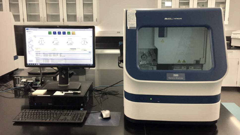 DNA 3500 Genetic Analyzer in the Utah Department of Public Safety Crime Laboratory.    Courtesy Photo