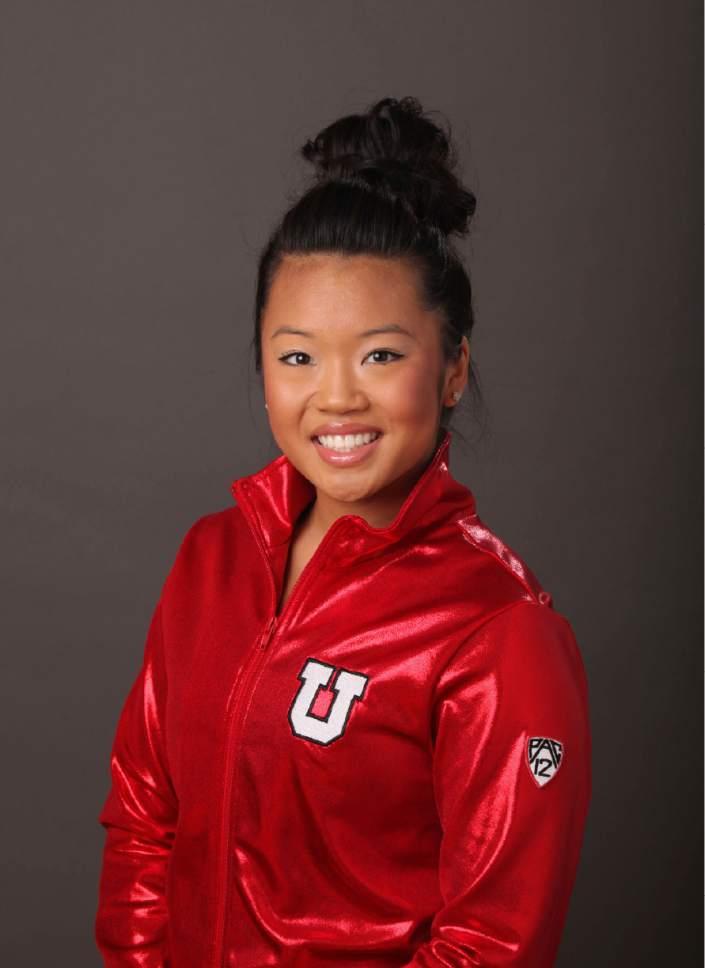Kari Lee, Utah Gymnastics Sept. 5, 2014 in Salt lake City, Utah. (Steve C. Wilson/University of Utah)