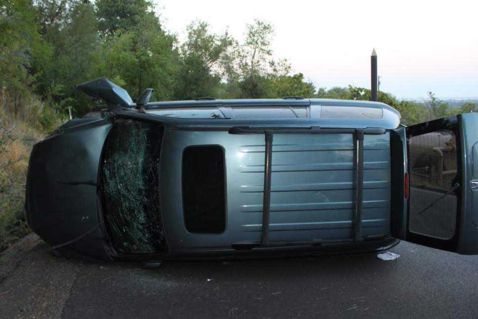 Courtesy     Provo Police Department  A 4-month-old baby is dead after a crash in Provo on Thursday, August 4.