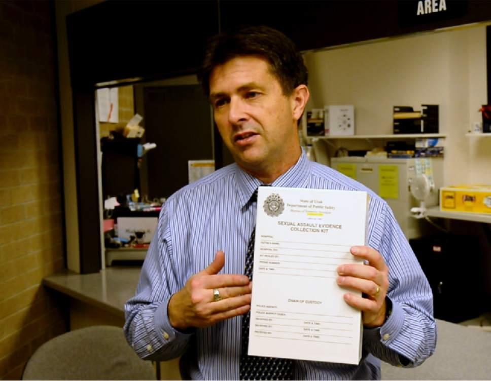 Rick Egan     The Salt Lake Tribune  Jay Henry, Utah Department of Public Safety laboratory director, talks about the various steps of testing a rape kit.