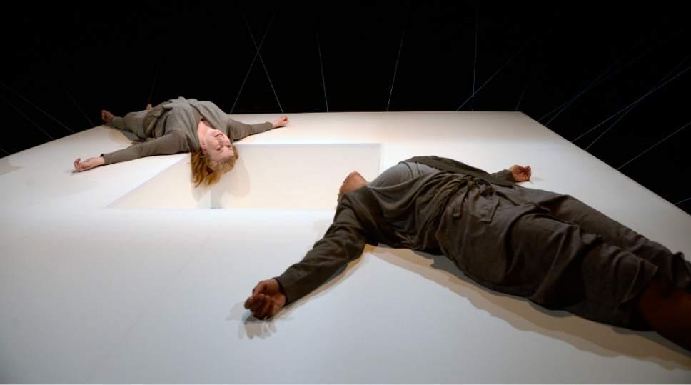 "Al Hartmann     The Salt Lake Tribune Colleen Baum, left, and Latoya Cameron in Plan-B Theatre's ""Not One Drop"" by Morag Shepherd."