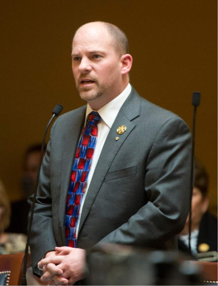 Rick Egan  |  The Salt Lake Tribune  Senator Daniel Thatcher explains his yes vote for SB189, that would end to the death penalty in the Senate at the Utah State Capitol, Tuesday, March 1, 2016.