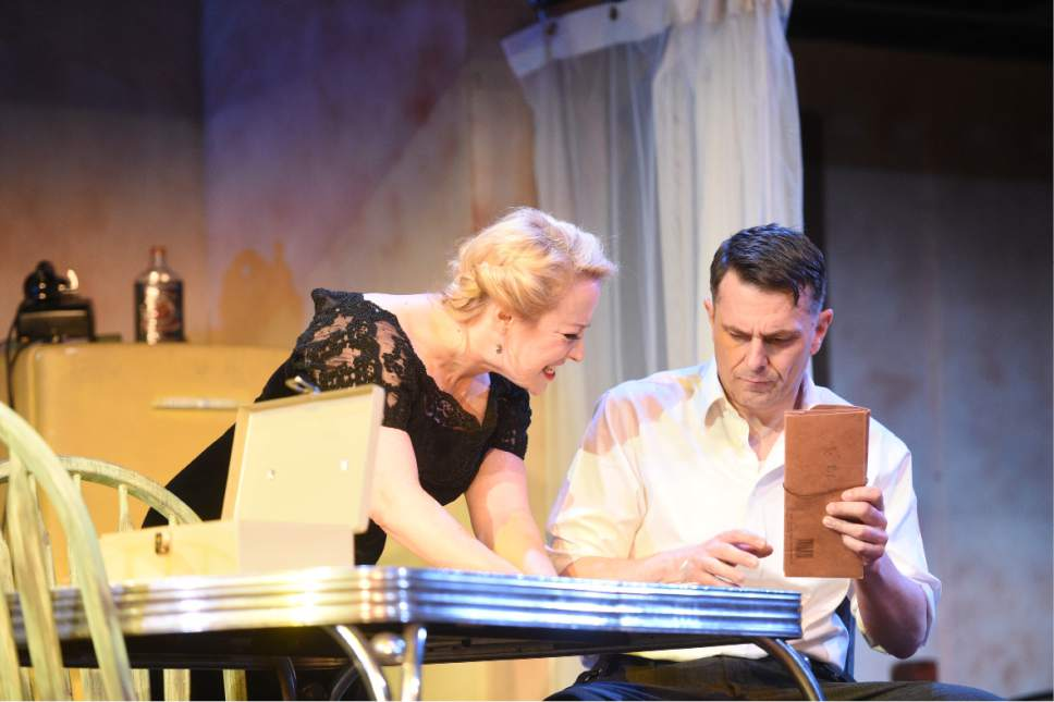 "April Fossen as Blanche and Robert Scott Smith as Stanley in the Grand Theatre's production of a ""A Streetcar Named Desire"" through April 1 at Salt Lake Community College. Courtesy Grand Theatre"