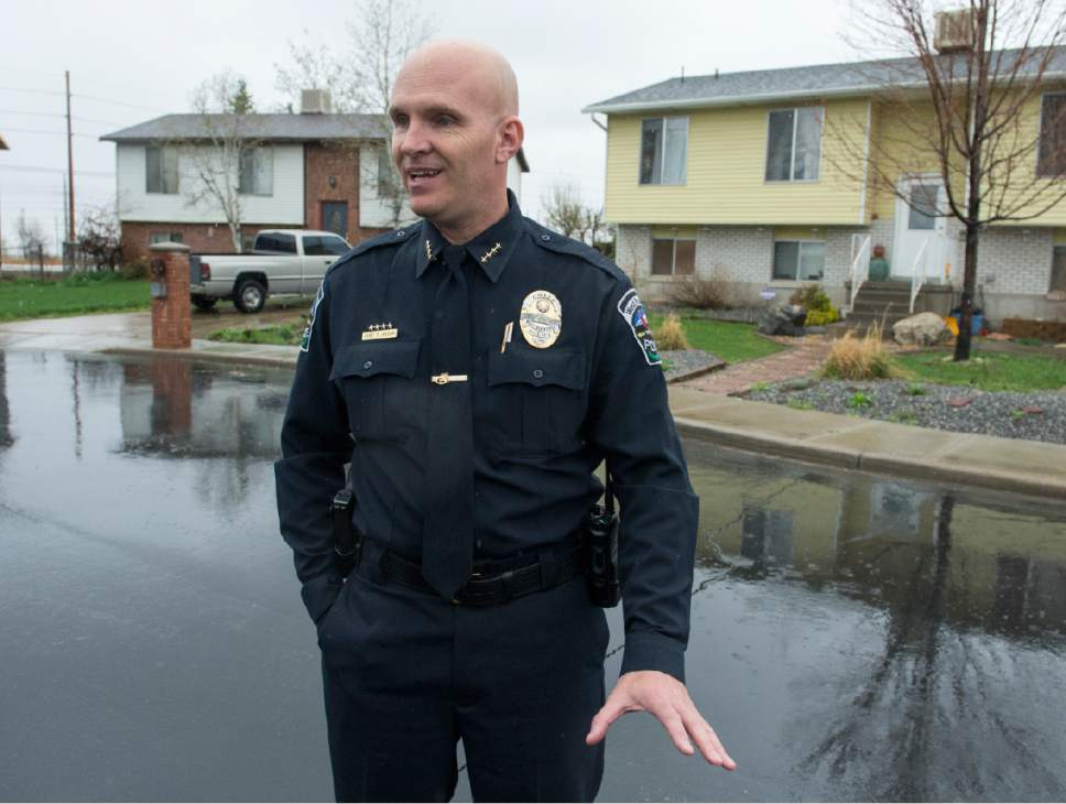 Rick Egan  |  The Salt Lake Tribune  West Bountiful Police Department Chief of Police Todd Hixson  talks about his Kurt Cochran, 54, of West Bountiful, was one of three people killed when a man drove into pedestrians on Westminster Bridge in London. His wife Melissa Payne Cochran, suffered a broken leg and rib and head laceration, but  is expected to recover. Thursday, March 23, 2017.