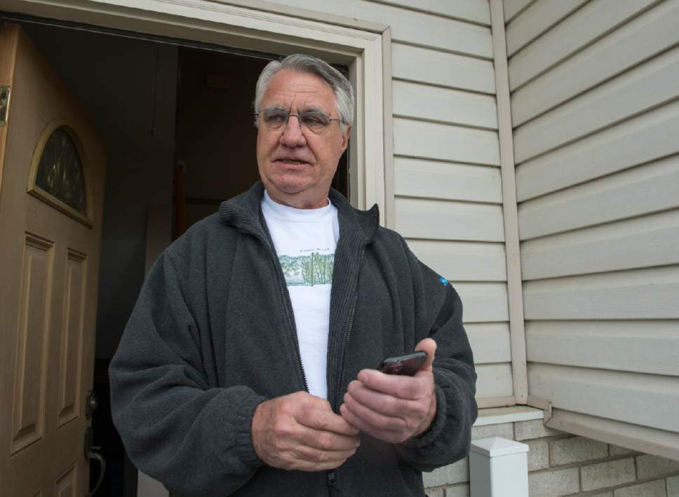 Rick Egan  |  The Salt Lake Tribune  Keith Stevenson talks about his next door neighbors, Kurt and Melissa Cochran.  Kurt Cochran, 54, of West Bountiful, was one of three people killed when a man drove into pedestrians on Westminster Bridge in London. His wife Melissa Payne Cochran, suffered a broken leg and rib and head laceration, but  is expected to recover. Thursday, March 23, 2017.