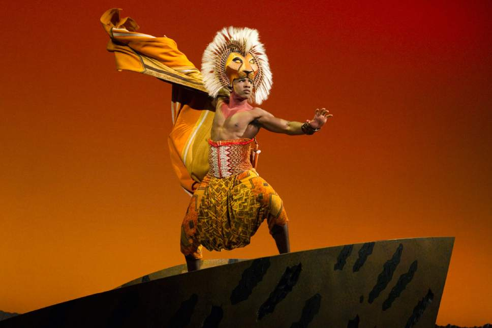 "Dashaun Young as Simba in ""The Lion King."" (Courtesy Joan Marcus)"