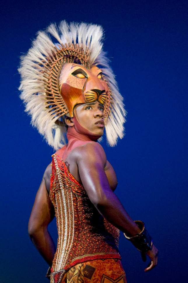 "Dashaun Young as Simba in  ""The Lion King,"" which plays a four-week run in Salt Lake City's Eccles Theater on March 23-April 16. (Courtesy Joan Marcus)"