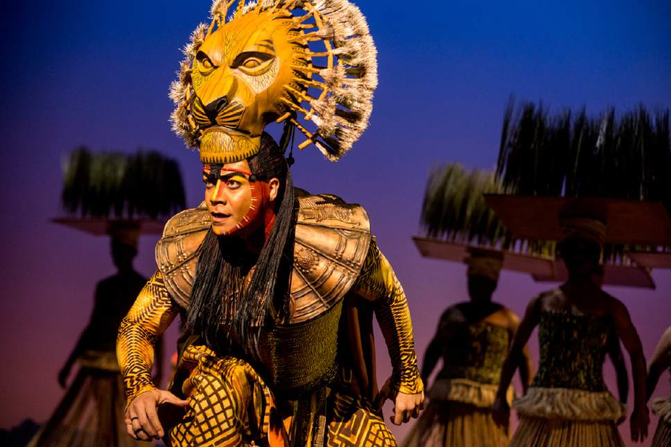 "Gerald Ramsey as Mufasa with the ensemble of ""The Lion King."" (Courtesy Matthew Murphy)"