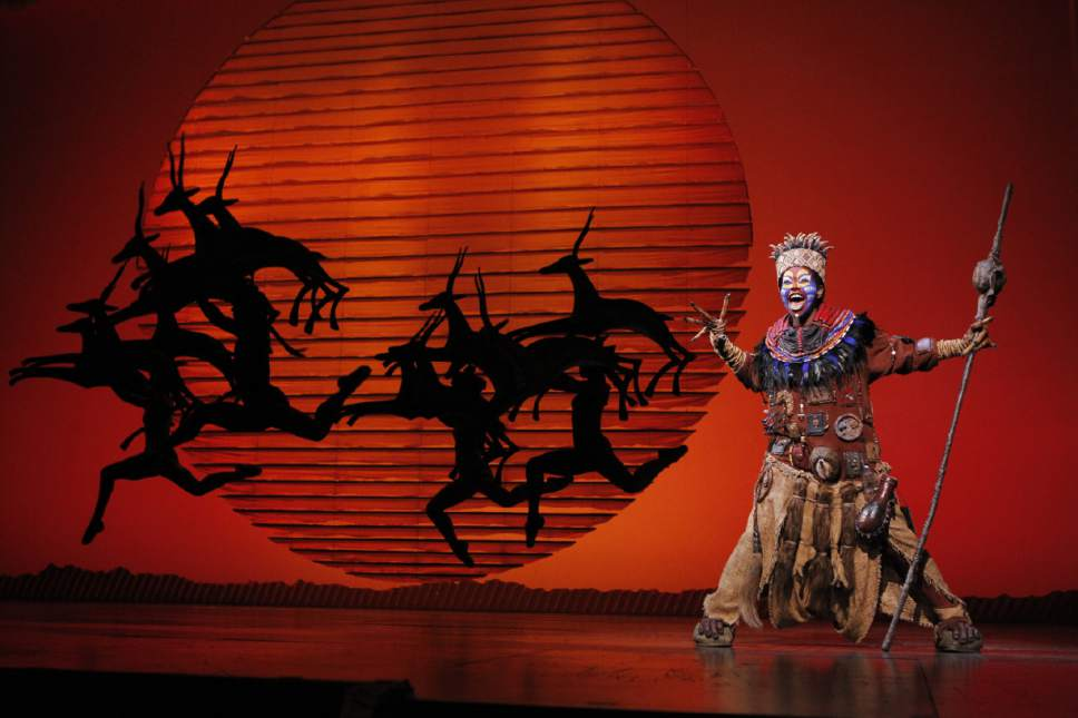 "Buyi Zama as Rafiki in ""The Lion King."" (Courtesy,  Joan Marcus)"