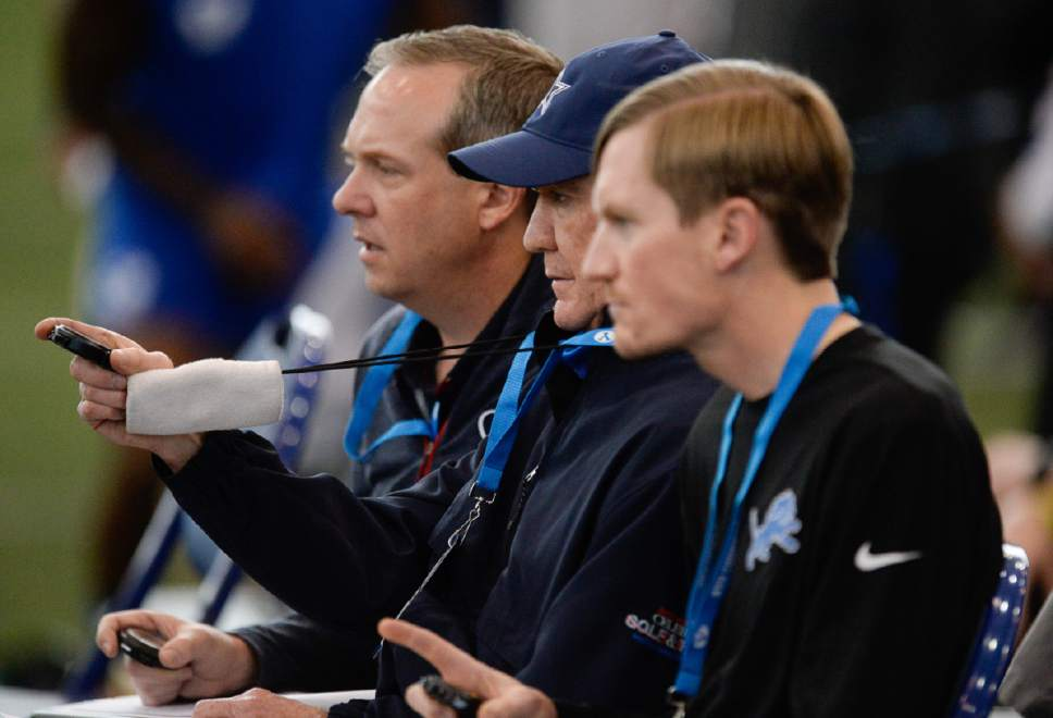 Francisco Kjolseth   The Salt Lake Tribune NFL scouts from various teams take notes and time on BYU players with potential on Friday, March 24, 2017, as part of BYU Pro Day.