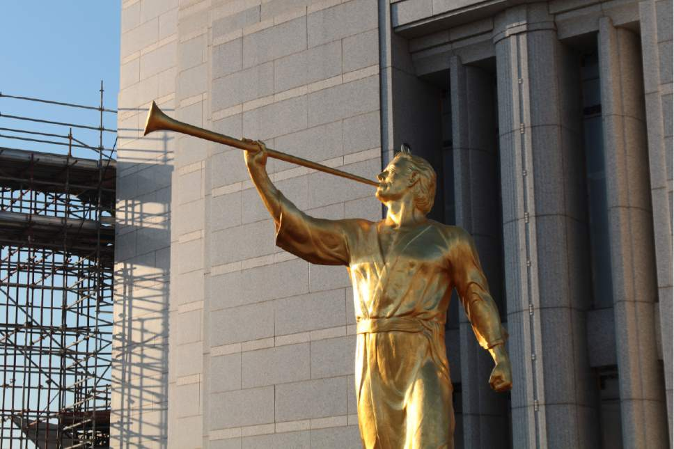 The angel Moroni statue is ready to be placed on the top of the Rome Italy Temple March 25, 2017. Courtesy Photo | Intellectual Reserve, Inc.