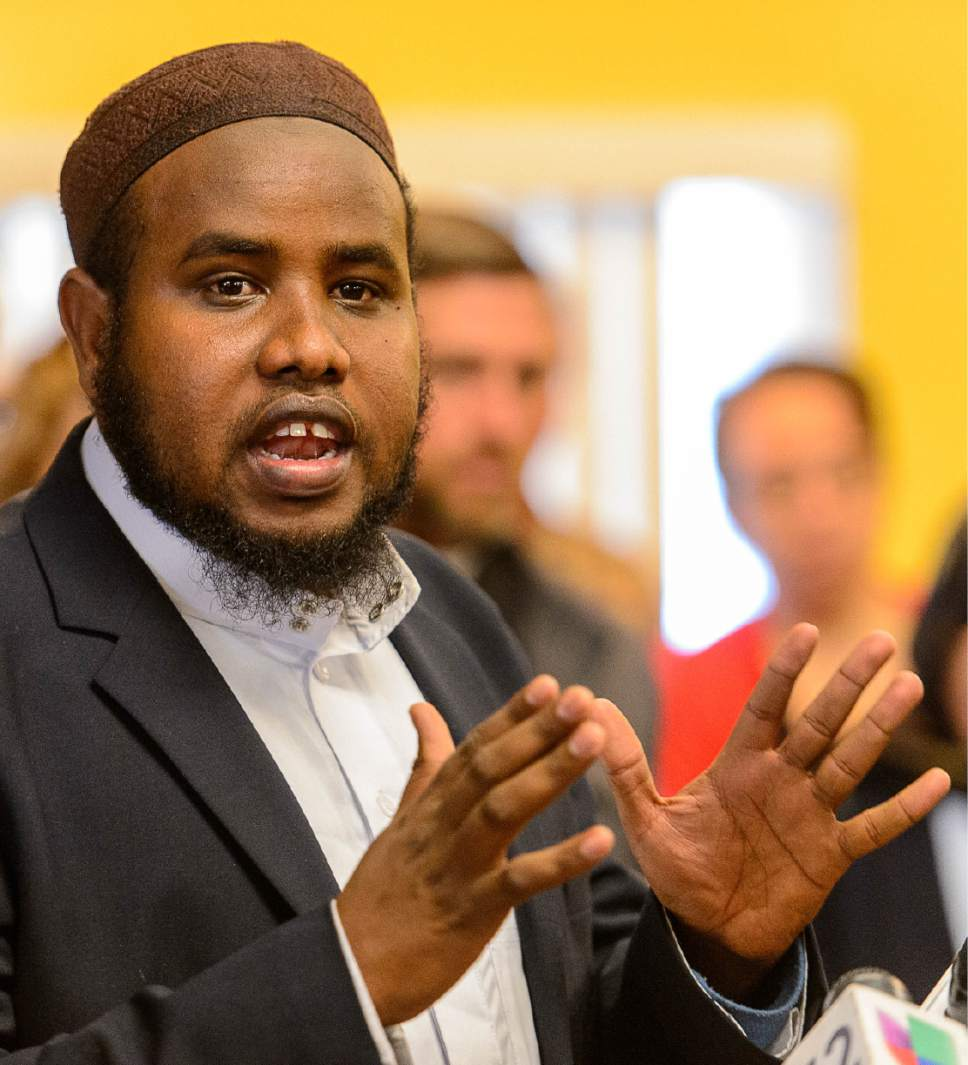 Trent Nelson      Tribune file photo Imam Yussuf Abdi at the Madina Masjid Islamic Center in Salt Lake City, Friday March 10, 2017.