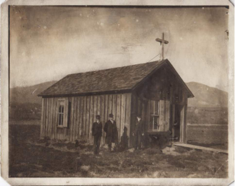 |  Courtesy  The original St. John's in Salt Lake City on 900 East and 1700 South 1890.
