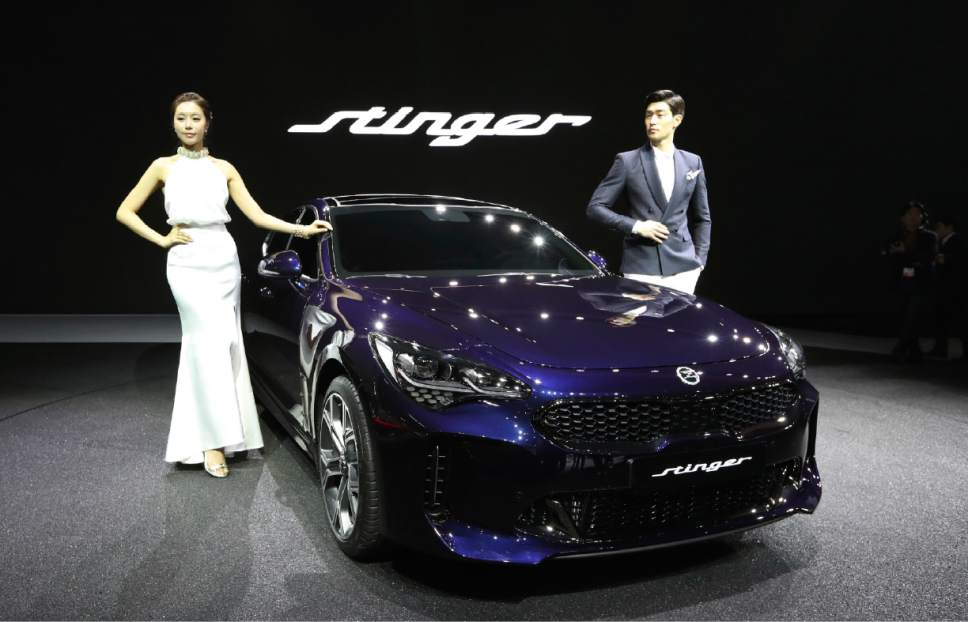 Asian luxury cars electric vehicles at auto show the for Kia motors south korea