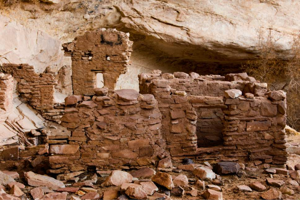 Rick Egan  |  Tribune file photo  Ancient cliff dwellings in the newly designated Bears Ears National Monument, near Bluff, Utah, on Thursday, December 29, 2016.